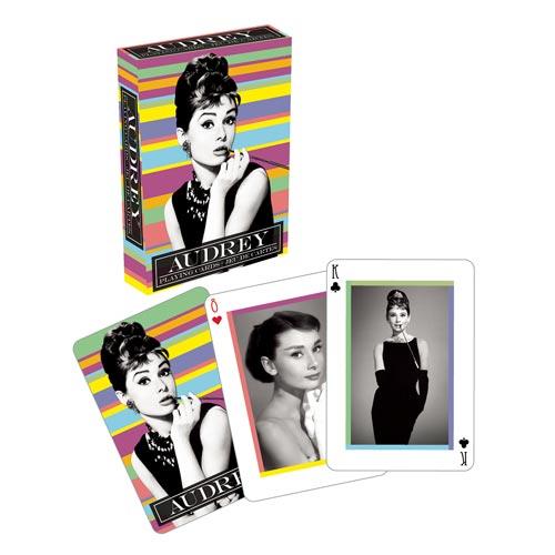 Audrey Hepburn Playing Cards