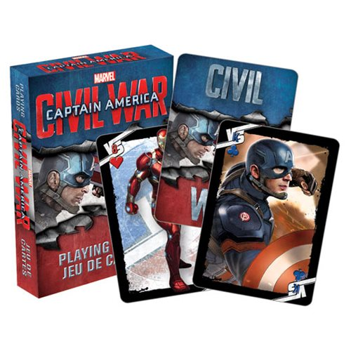 Captain America: Civil War Playing Cards
