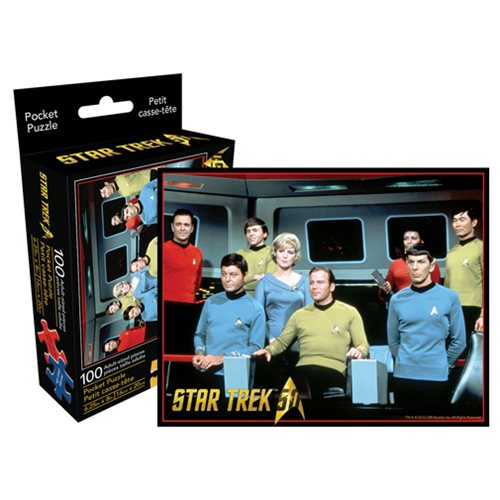 Star Trek Cast 100-Piece Pocket Puzzle