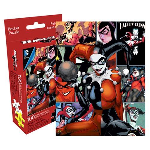 Harley Quinn 100-Piece Pocket Puzzle