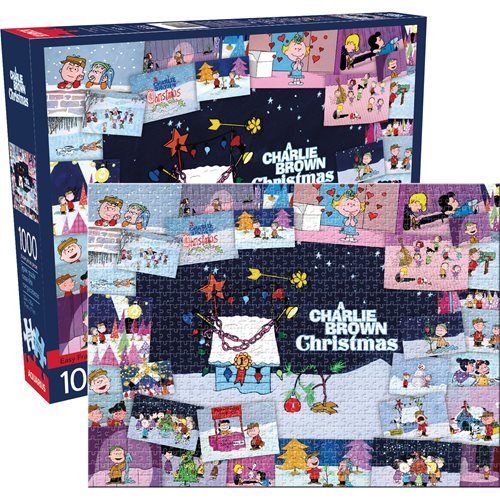Peanuts Charlie Brown Collage Christmas 1,000-Piece Puzzle
