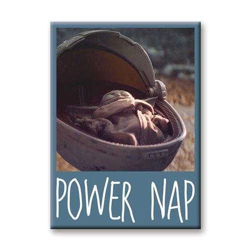 The Mandalorian The Child Power Nap Flat Magnet
