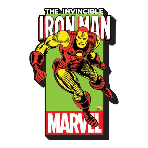 Iron Man with Logo Funky Chunky Magnet