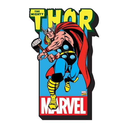 Thor with Logo Funky Chunky Magnet