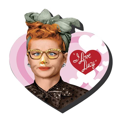 I Love Lucy Heart Funky Chunky Magnet