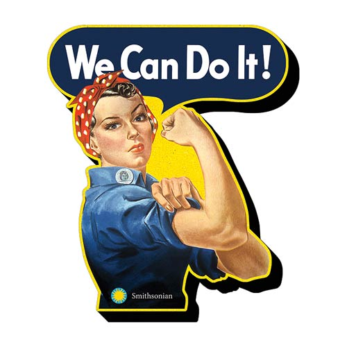 Rosie the Riveter Funky Chunky Magnet