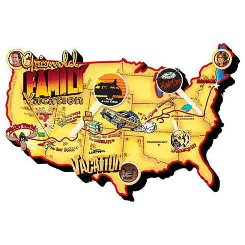 National Lampoon's Vacation Walley World Map Chunky Magnet