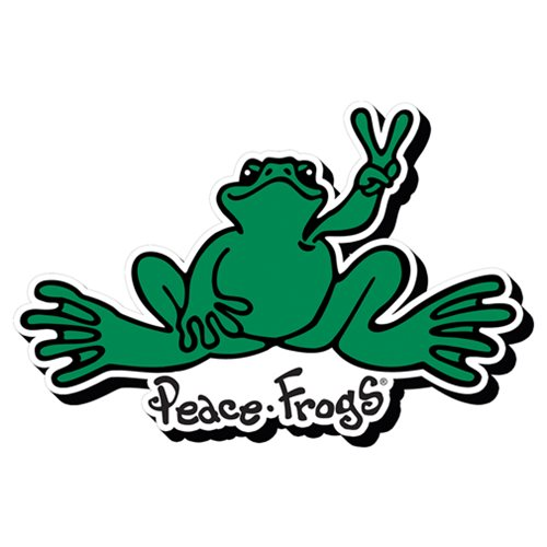 Peace Frogs Logo Funky Chunky Magnet