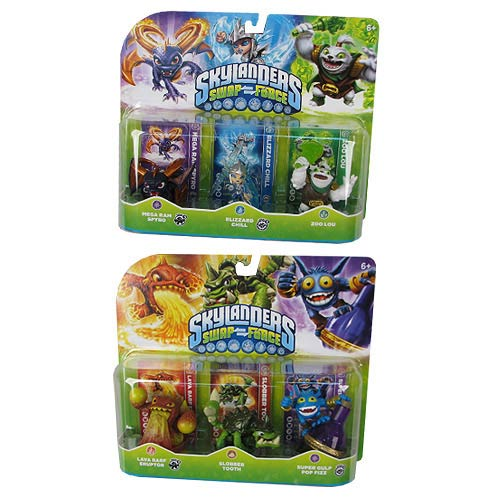 Skylanders Swap Force Core Character Mini-Figure 3-Pack Case