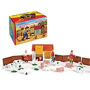 Plastic Hut Farm Figures and Playset