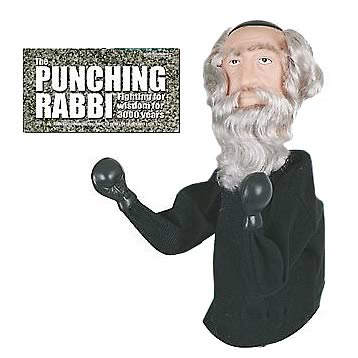 Punching Rabbi Puppet