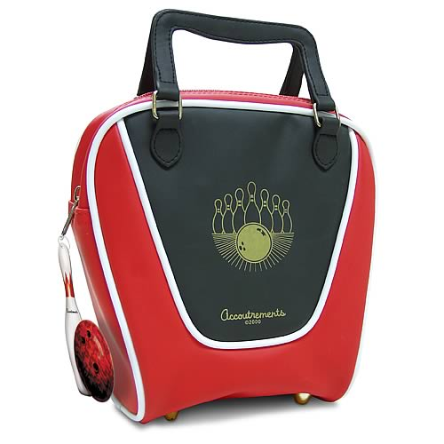 Red Mini Bowling Bag Purse