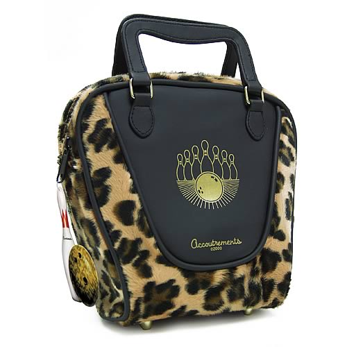 Leopard Mini  Bowling Bag Purse