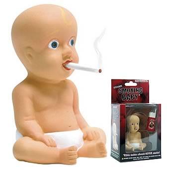 Smoking Baby Figure