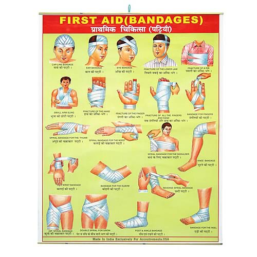 First Aid Bandages Hanging Banner Accoutrements
