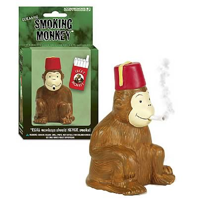 Smoking Monkey Figure