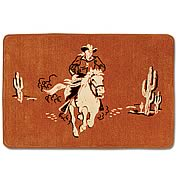 Cowboy Throw Rug