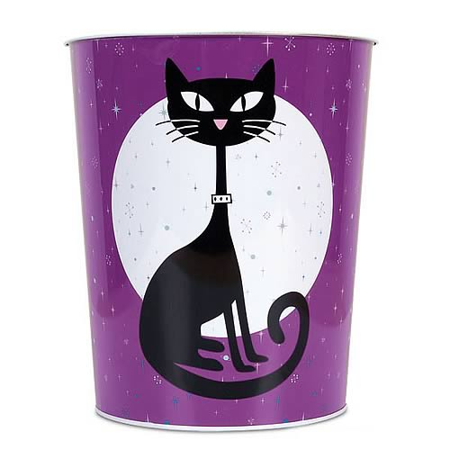 Black Cat Trash Container