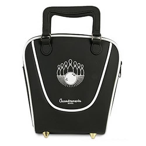 Black Mini  Bowling Bag Purse