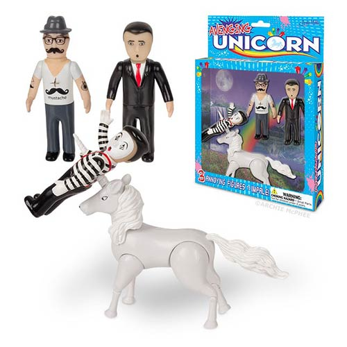 Avenging Unicorn Action Figure with Mini-Figures Set