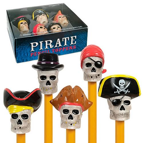 Pirate Pencil Toppers 5-Pack