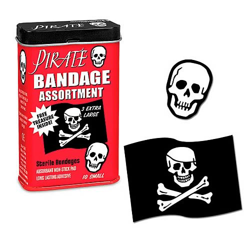 Pirate Assorted Adhesive Bandages