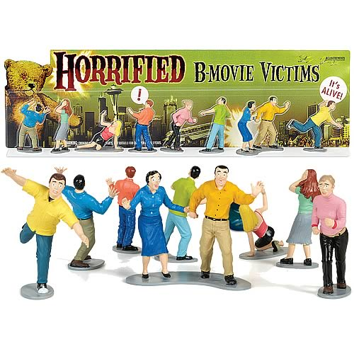 Horrified B-Movie Victims Figures Set