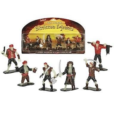 Glow in the Dark Skeleton Pirates Figures