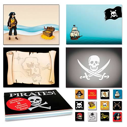 Pirate Notepad with Stickers