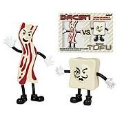 Bacon vs. Tofu Bendable Figure Set