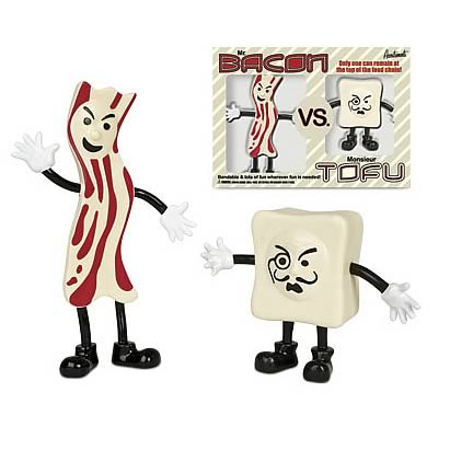 Bacon vs. Tofu Bendable Figure Set