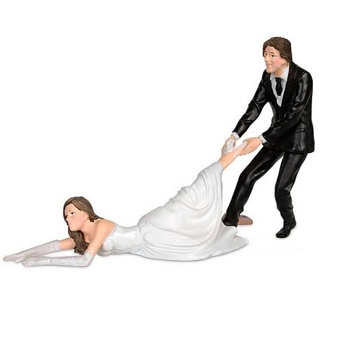 Reluctant Bride Cake Topper Figure