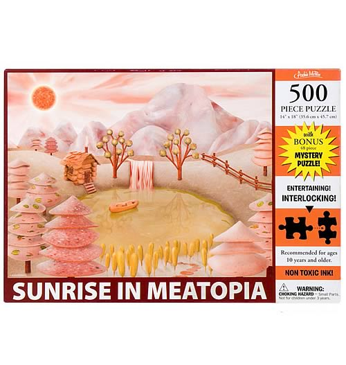 Sunrise in Meatopia 500-Piece Puzzle