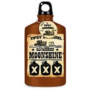 Tipsy Squirrel Old-Fashioned Moonshine Water Bottle