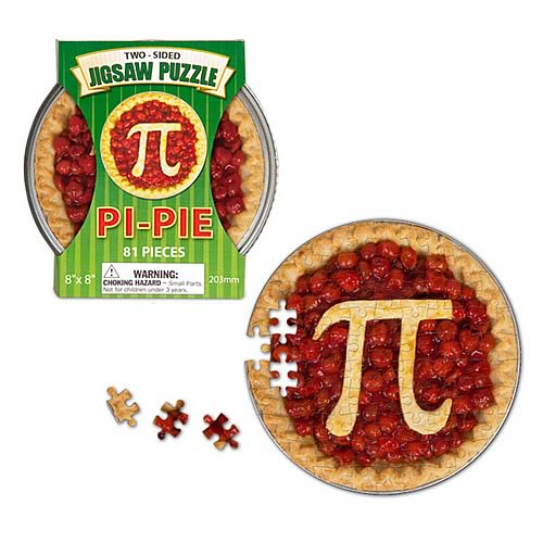 Pi-Pie Two-Sided 81-Piece Puzzle