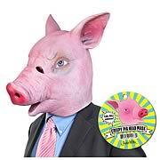 Creepy Pig Latex Full Head Mask