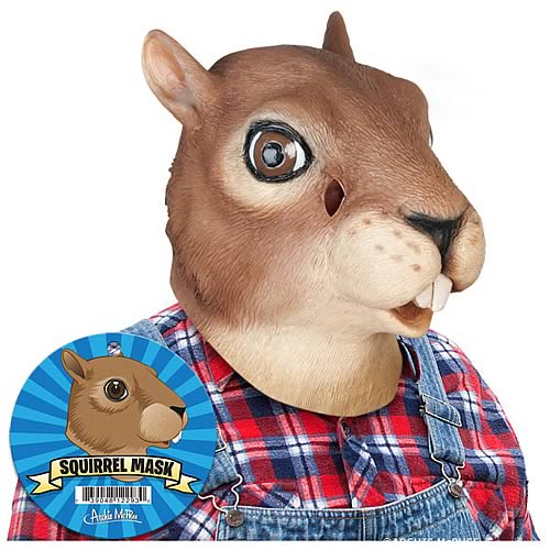 Squirrel Latex Full Head Mask