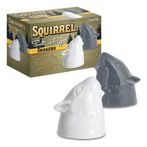 Squirrel Ceramic Salt and Pepper Shakers