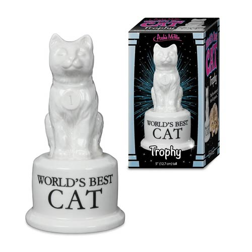 World's Best Cat Trophy Statue