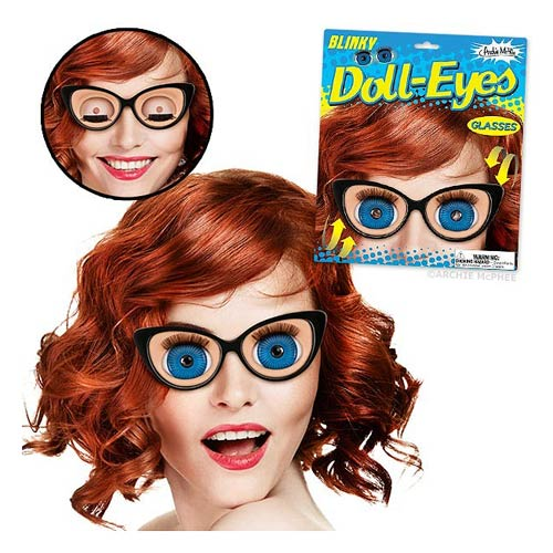 Blinky Doll Eye Glasses