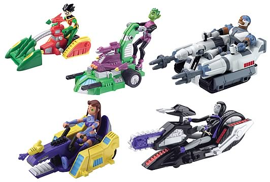 Teen Titan Toy : Teen titans battling machines case bandai