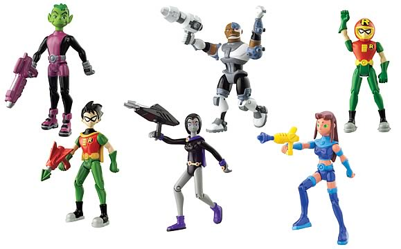 Teen Titan Toy : Teen titans inch figure case bandai