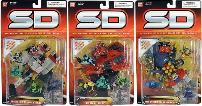 Gundam SD Mini-Defender Playsets