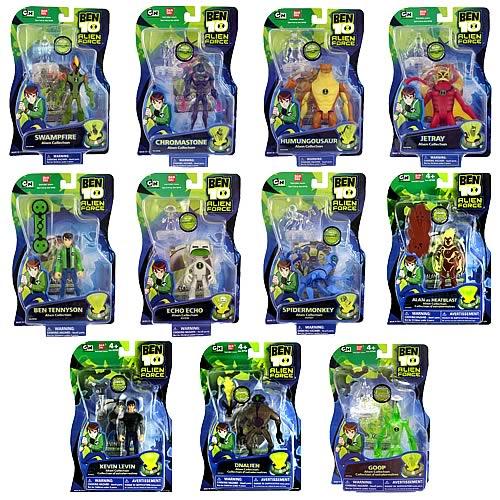 Toy Names A Z : Ben alien force figures wave case bandai