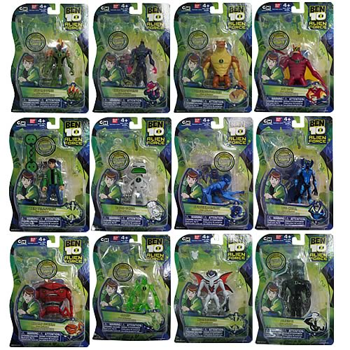 Ben 10 alien force alien figures wave 4 case bandai ben 10 action figures at entertainment - Ben 10 tous les aliens ...