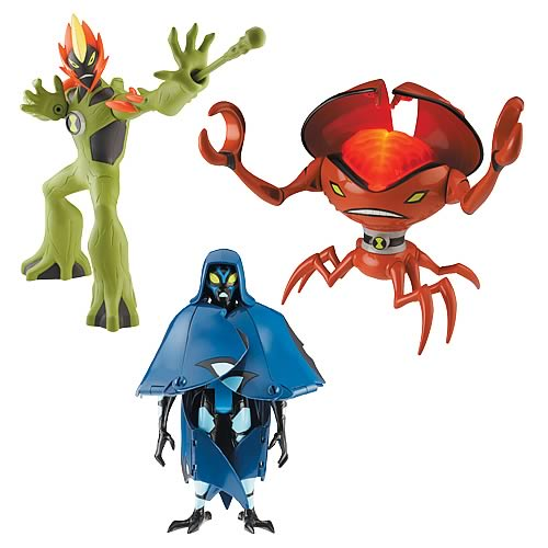 Ben 10 Alien Force DNA Alien Heroes Figures Wave 1 Case