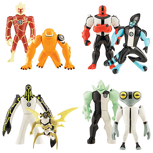 Ben 10 Alien Creation Chamber Wave 1 Figure 2-Pack Set