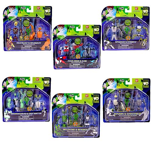 Ben 10 Alien Creation Chamber Wave 2 Figure 2-Pack Set