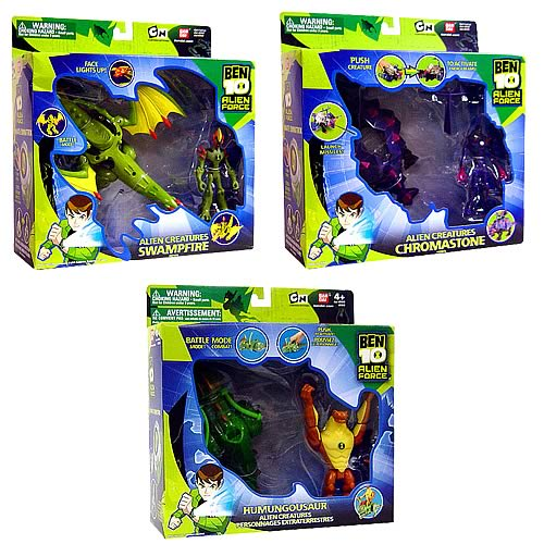 Ben 10 Alien Force Alien Creatures Figures Wave 1 Case