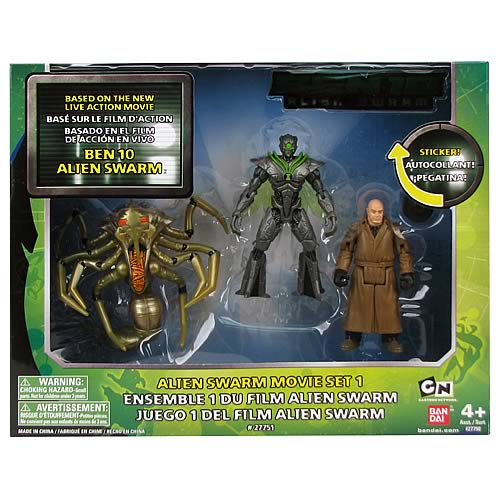 Ben 10 Figure Collection Alien Swarm Movie 3-Pack Figures